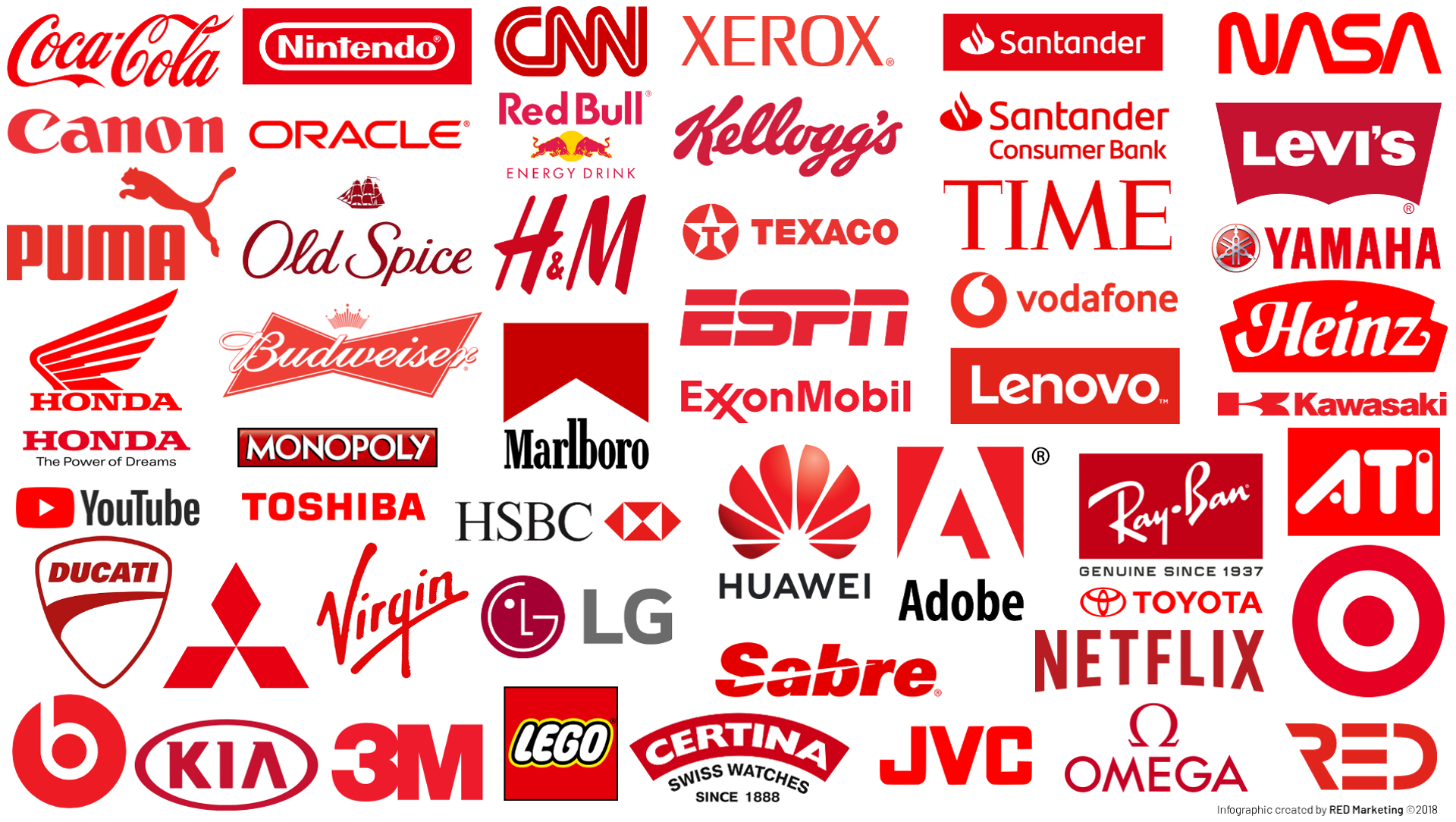 companies with red logo